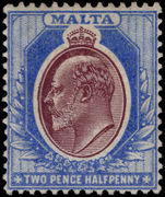 Malta 1904-14 2½d maroon and blue lightly mounted mint.