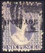 Natal 1869 6d lilac POSTAGE fine used.