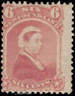 Newfoundland 1894 6c crimson-lake unused and re-gummed.
