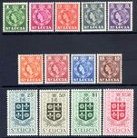 St Lucia 1953-63 set lightly mounted mint.