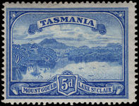 Tasmania 1899-1900 5d Mount Gold lightly mounted mint.