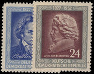 East Germany 1952 Beethoven unmounted mint.