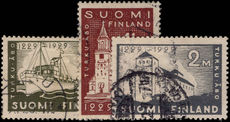 Finland 1927 Abo wmk facing left fine used.