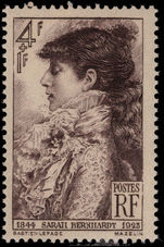 France 1945 Sarah Bernhardt unmounted mint.