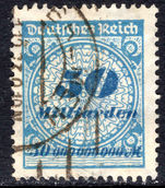 Germany 1923 50Md fine used with FAKE CANCEL.