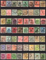 Germany 1923 selection of 56 different Weimar and inflation provisional fine used.