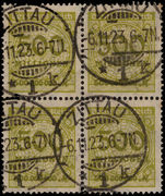 Germany 1923 500m block of 4 fine used.
