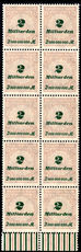 Germany 1923 2Md perf in superb marginal block of 10 unmounted mint.