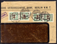 Germany 1923 20Md roulette 2 pairs on piece.
