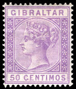 Gibraltar 1889-96 50c bright lilac lightly mounted mint.