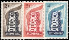 Luxembourg 1956 Europa set fine and fresh lightly mounted mint.