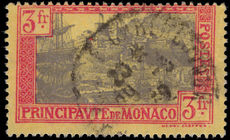 Monaco 1924-33 3f lavender and red on yellow fine used.