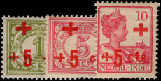 Netherlands Indies 1915 Red Cross lightly mounted mint.
