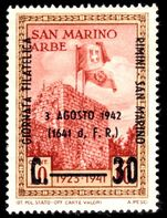 San Marino 1942 Philatelic Congress unmounted mint.
