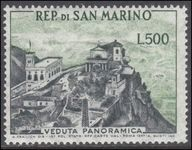San Marino 1957-61 500l Panorama of San Marino unmounted mint.