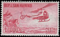 San Marino 1961 Helicopter Air unmounted mint.
