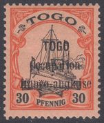 Togo 1914 Anglo-French Occupation 30pf fine lightly mounted mint.