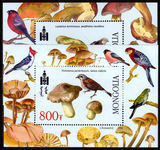 Mongolia 2002 Birds and Mushrooms souvenir sheet set unmounted mint.