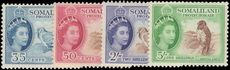 British Somaliland 1953-58 Bird values lightly mounted mint.(5/- unmounted mint).