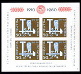 Switzerland 1960 Pro Patria souvenir sheet mounted mint.