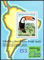 Vietnam 1983 Toco Toucan souvenir sheet unmounted mint.