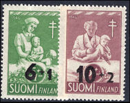 Finland 1947 Anti-TB fund provisionals unmounted mint.