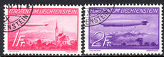 Liechtenstein 1936 Zeppelin set fine used.