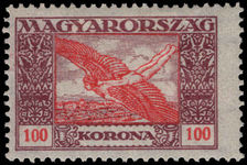 Hungary 1924 100k air lightly mounted mint.