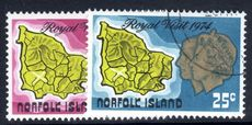 Norfolk Island 1974 Royal Visit fine used.