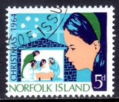 Norfolk Island 1964 Christmas fine used.