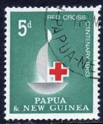 Papua New Guinea 1963 Red Cross fine used.