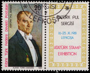 Turkish Cyprus 1981 Ataturk fine used.