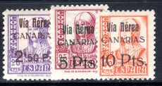 Canary Islands 1938 14th February air set unmounted mint.
