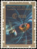 Equatorial Guinea 1976 Weather satellite GEOS 1 Earth's magnetic field unmounted mint.