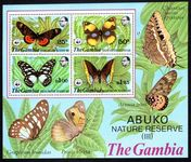 Gambia 1980 Abuko Nature Reserve (3rd series) souvenir sheet unmounted mint.