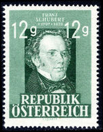 Austria 1947-49 12g Schubert unmounted mint.