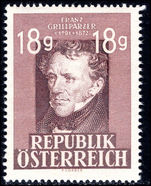 Austria 1947-49 18g Grillparze (recess) unmounted mint.