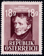Austria 1947-49 18g Grillparze (photogravure) unmounted mint.