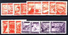 Austria 1947-48 Revaluation of Currency set unmounted mint.