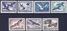 Austria 1950-53 Birds air set fine unmounted mint.