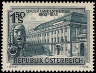 Austria 1953 Linz National Theatre unmounted mint.
