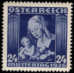 Austria 1936 Mothers Day lightly mounted mint.