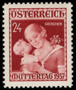 Austria 1937 Mothers Day lightly mounted mint.