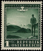Austria 1945 Austrian Welfare Charities lightly mounted mint.
