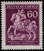 Bohemia and Moravia 1943 Stamp Day unmounted mint.