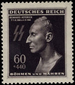 Bohemia and Moravia 1943 Heydrich unmounted mint.