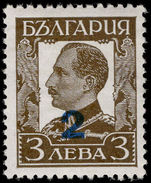 Bulgaria 1934 provisional fine lightly mounted mint.