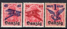 Danzig 1920 Air overprint set lightly mounted mint.