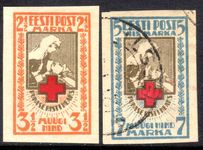 Estonia 1921-22 imperf Red Cross lightly mounted mint or fine used.