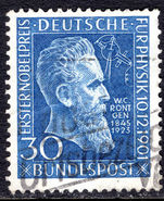West Germany 1951 Rontgen fine used.